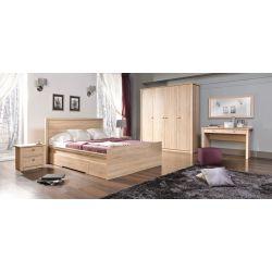 Łóżko z szufladami F 10, system Finezja, powierzchnia spania 160 x 200 cm.