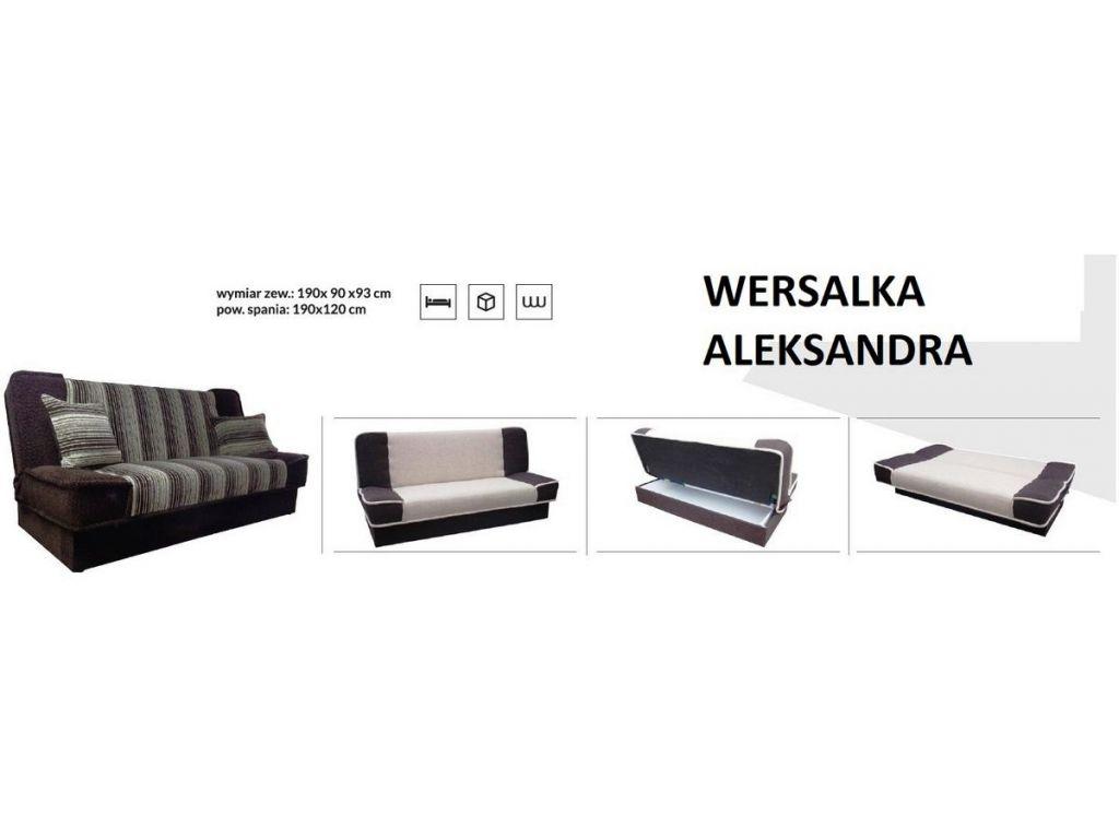 Wersalka ALEKSANDRA, bonell, powierzchnia spania 190 x 120 cm.