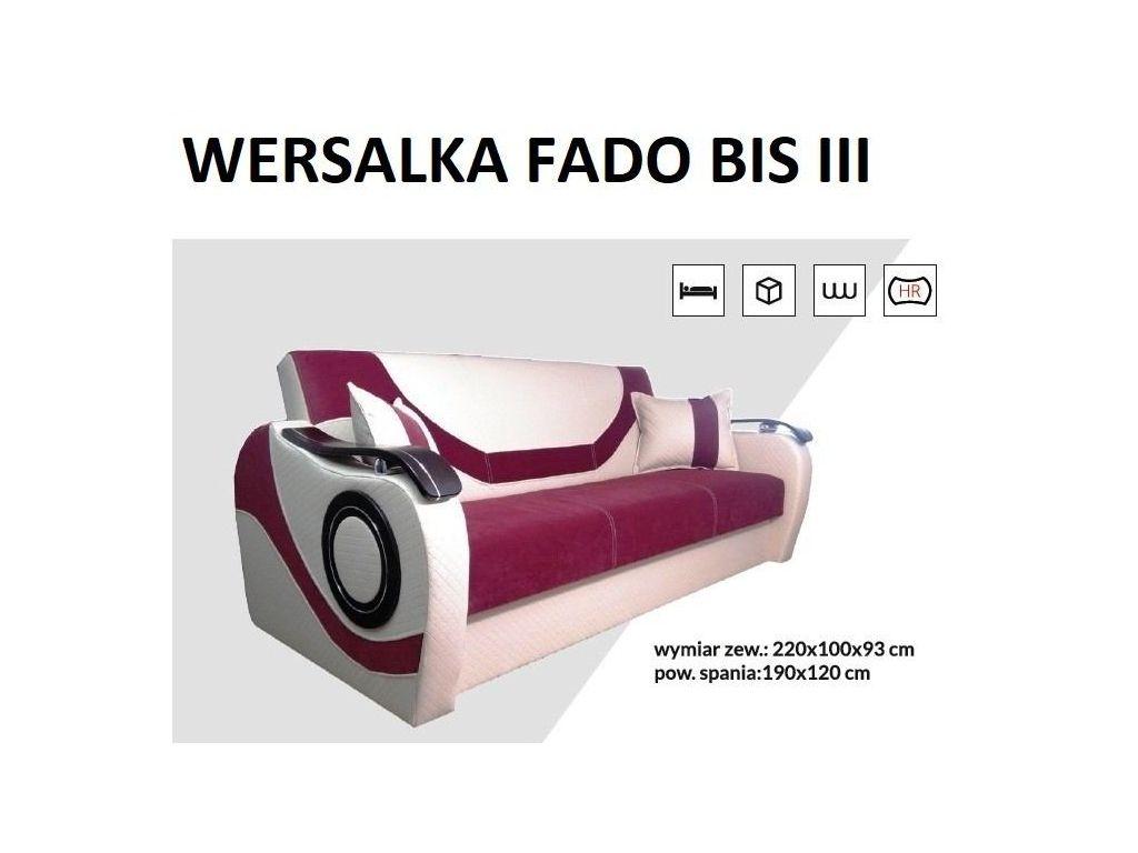 Wersalka FADO BIS III, bonell, powierzchnia spania 190 x 120 cm.