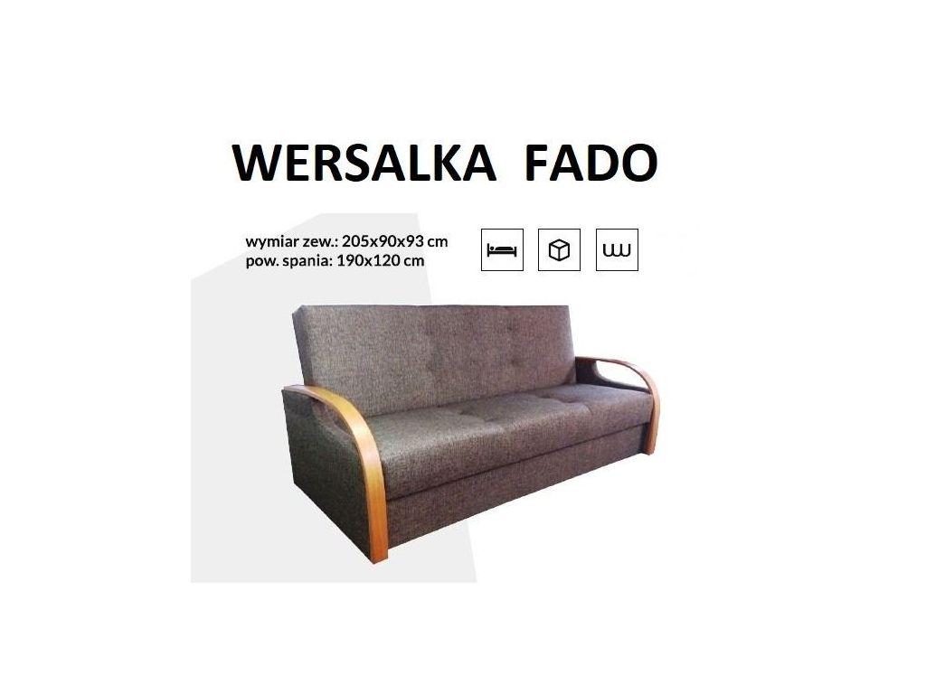 Wersalka FADO, bonell, powierzchnia spania 190 x 120 cm.