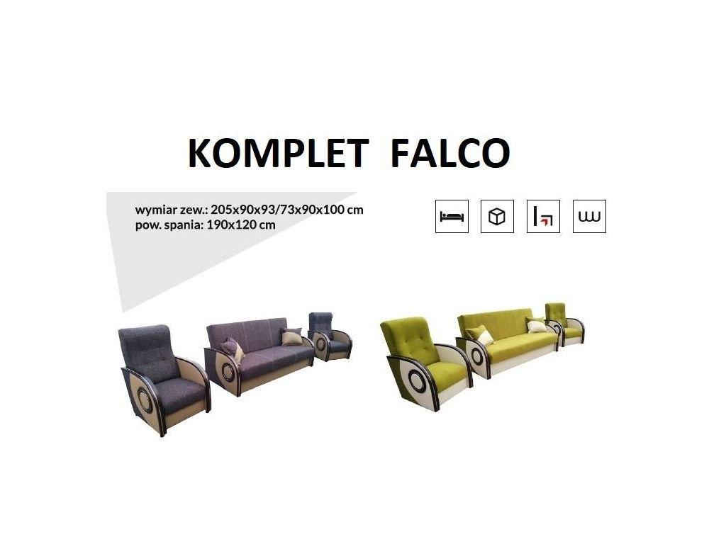 Komplet FALCO (wersalka + 2 fotele ).