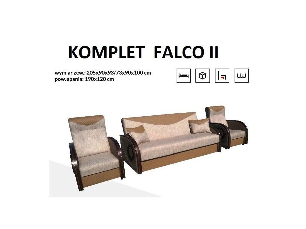 Komplet wypoczynkowy FALCO II (wersalka + 2 fotele).