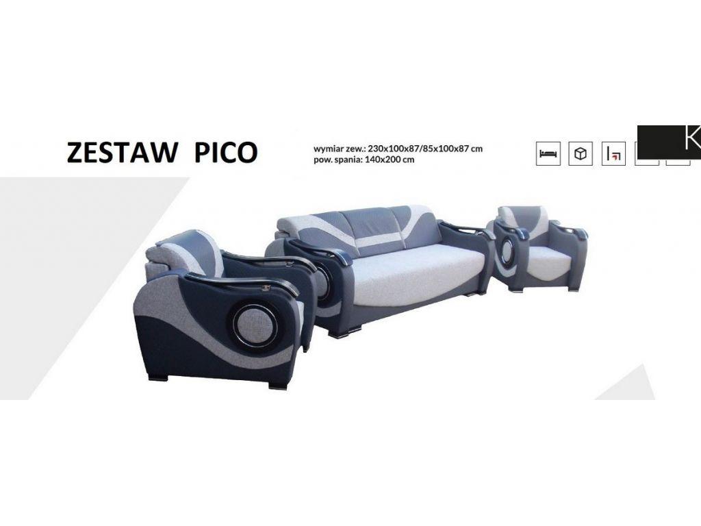 Zestaw wypoczynkowy PICO (kanapa + 2 fotele).