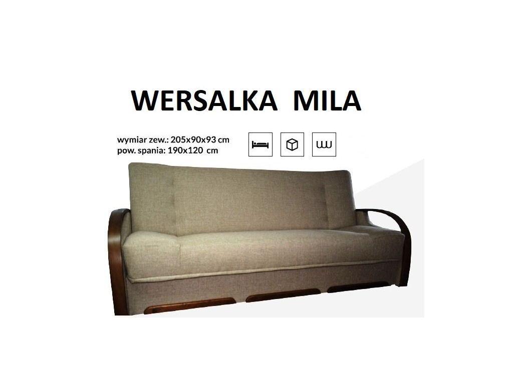 Wersalka MILA na sprężynie bonell, powierzchnia spania 190 x 120 cm.