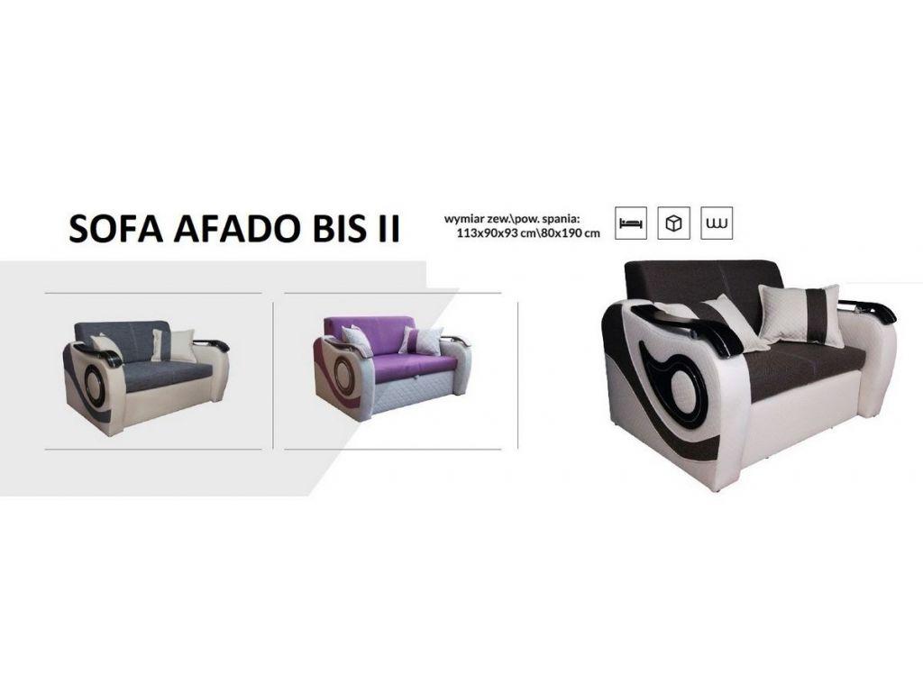Sofa FADO BIS II, rozkładana dwuosobowa, powierzchnia spania 113 x 190 cm.