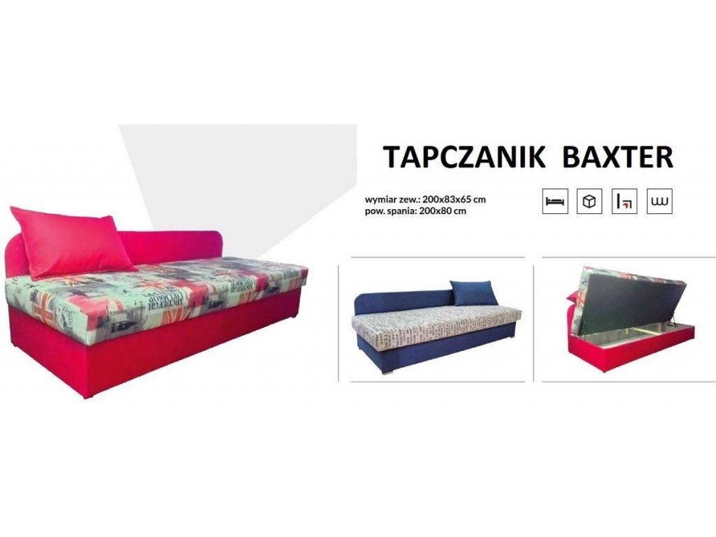 Tapczanik BAXTER na sprężynie bonell, powierzchnia spania 80 x 200 cm.