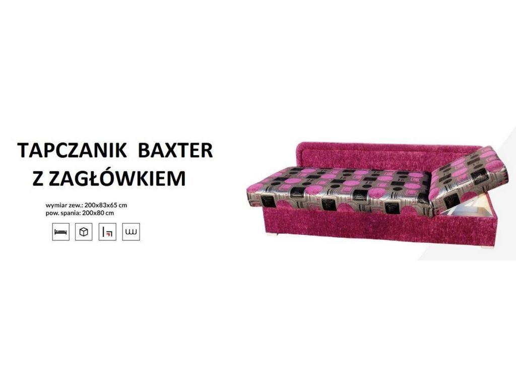 Tapczanik BAXTER z zagłówkiem P/L, powierzchnia spania  80 x 200 cm.