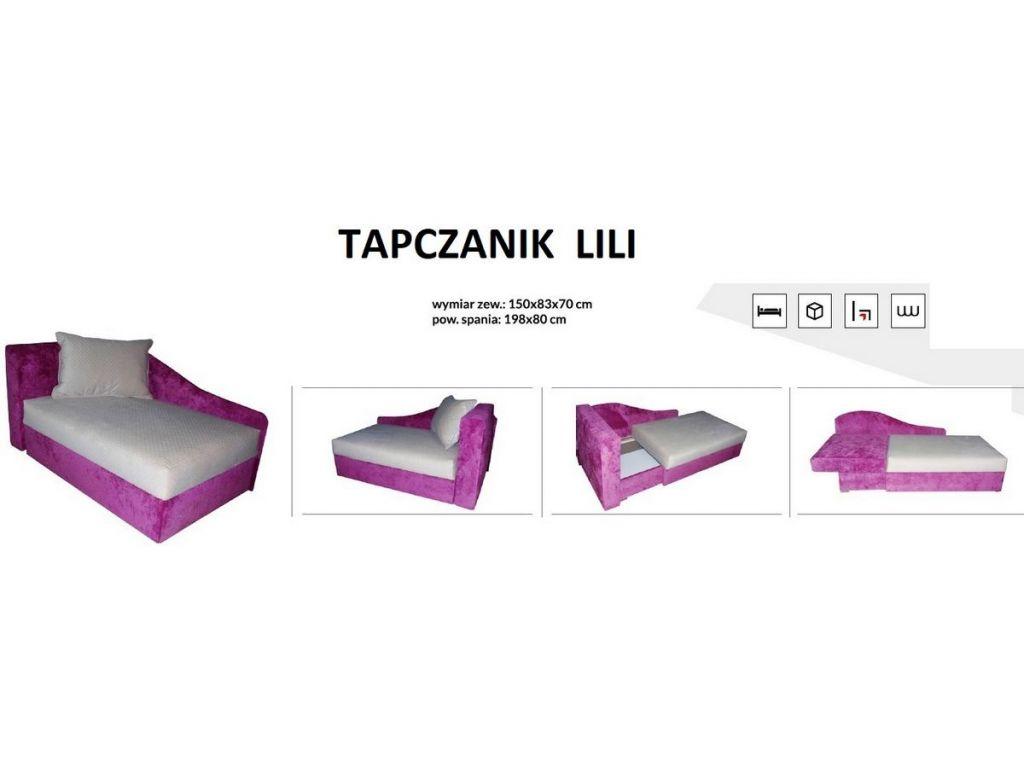 Tapczanik LILI, spanie 200 x 80 cm, bonell.