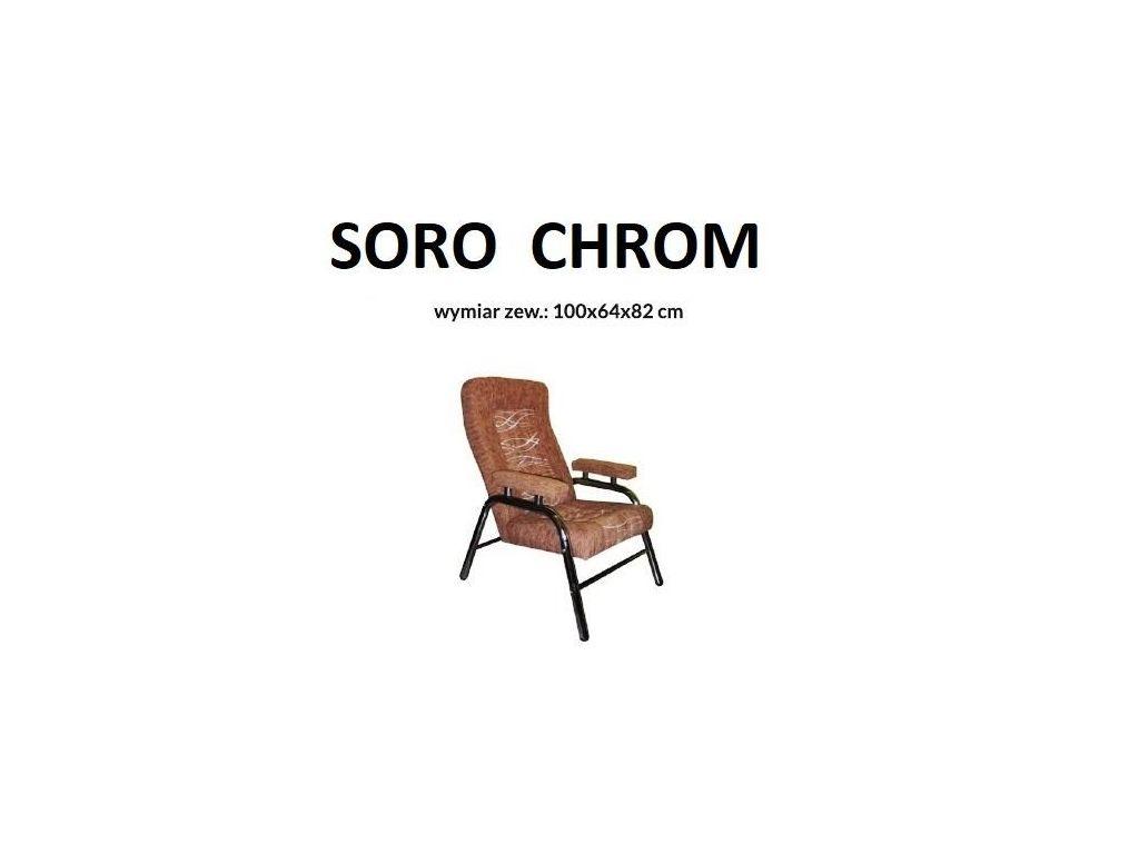 Fotel SORO, stelaż prosty chrom.