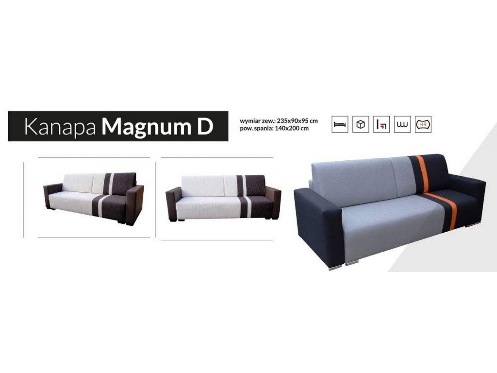 Kanapa MAGNUS D. Duża powierzchnia spania 200 x 140 cm. Sprężyna bonell.