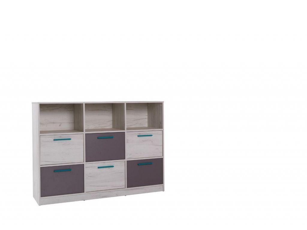 Komoda R13, system REST, 6 szuflad, szerokość 145 cm.