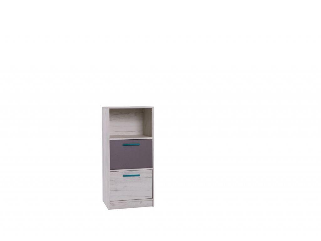 Komoda R12, system REST, 2 szuflady, szerokość 50 cm.