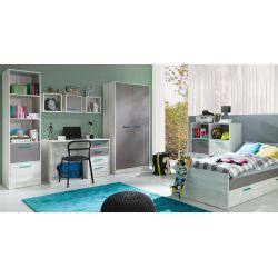 Łóżko z szufladami R05, system REST, powierzchnia spania 80/200 cm.