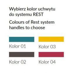 Biurko R06, system REST, szuflady, szerokość 120 cm.