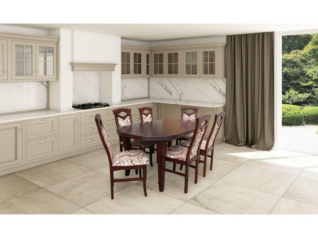 Zestaw do jadalni 13, stół S2 wymiar 90 x 160 x 240(2 x 40) krzesło K53 6 szt