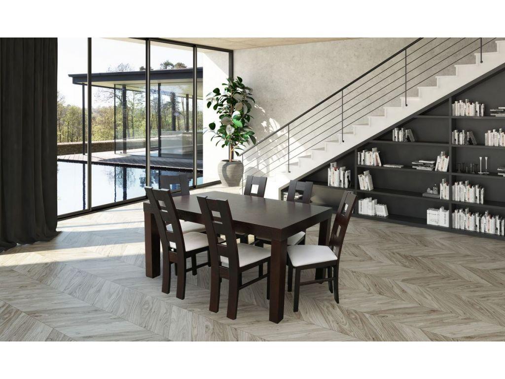 Zestaw do jadalni 14, ( stół SF25 wymiar 90 x 160 x 210 ), krzesło K42 6 szt.