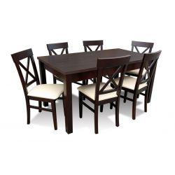 Zestaw do jadalni 15,( stół S18-L wymiar 80 x 160 x 200, krzesło K64 6 szt.