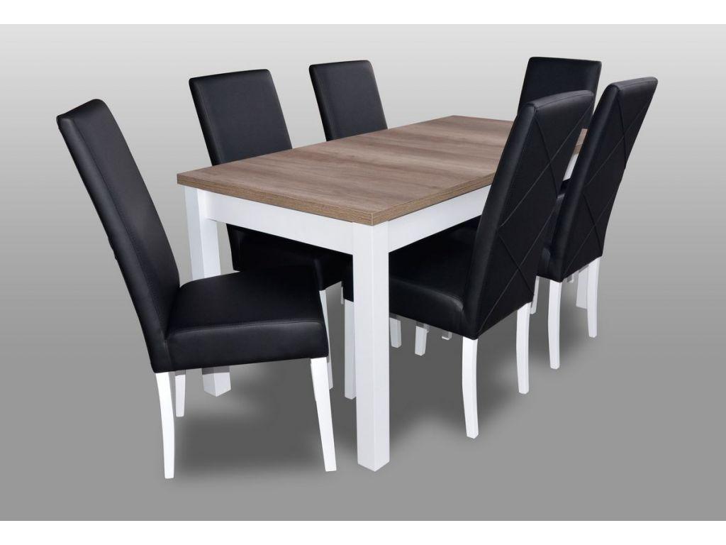 Zestaw do jadalni 19, stół S18-L wymiar 80 x 160 x 200 krzesło K2 6 szt.