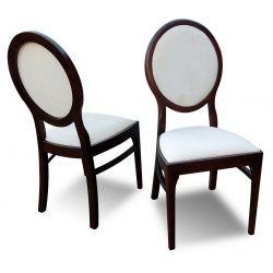 Zestaw do jadalni 22, stół fi wymiar 110 x 210(2 x 50) krzesło K59 ,4 szt.