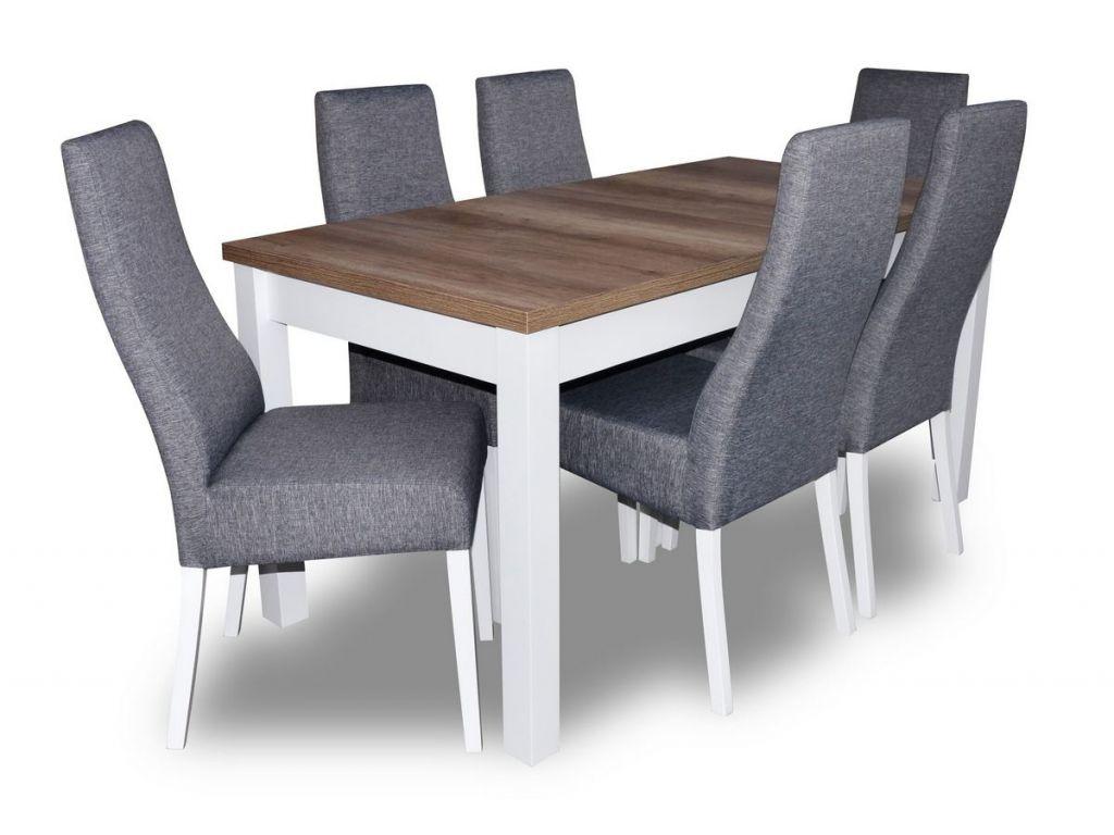 Zestaw do jadalni 23, stół S18-L wymiar 80 x 160 x 200 krzesło K63A, 6 szt.