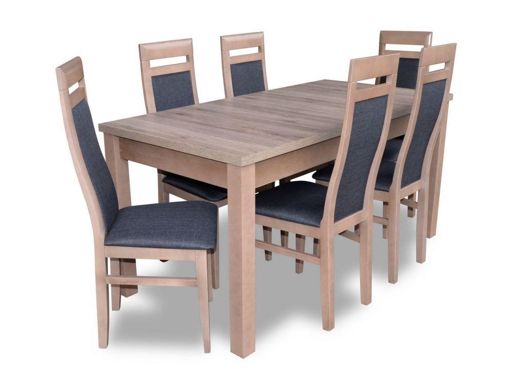 Zestaw do jadalni 28, stół S18-L wymiar 80 x 160 x 200 krzesło K70, 6 szt.