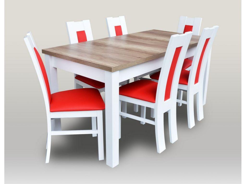 Zestaw do jadalni 30, stół S18-L wymiar 80 x 160 x 200 krzesło K41, 6 szt.