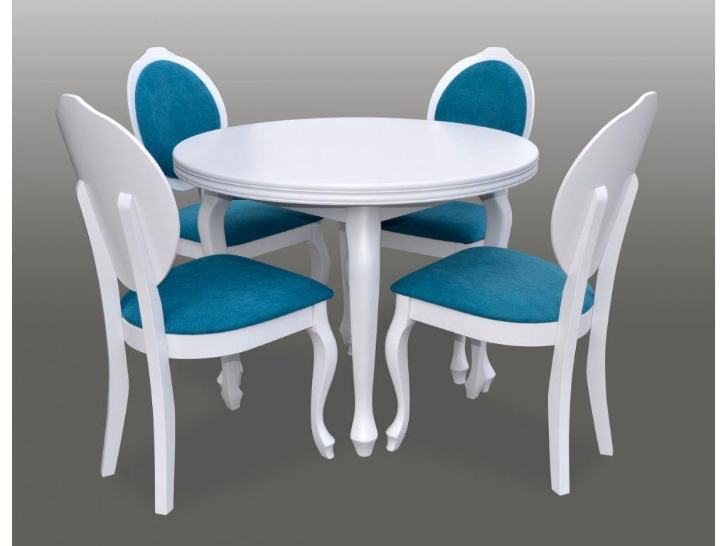 Zestaw do jadalni 33, stół S4 wymiar 100 x 140  krzesło K76, 4 szt.