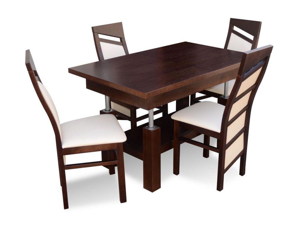 Zestaw do jadalni 34, stół S37 wymiar 80 x 130 x 170 krzesło K61, 4 szt.