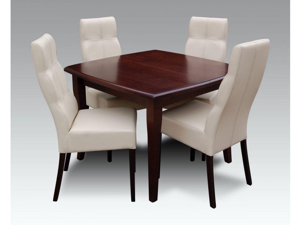 Zestaw do jadalni 36, stół S30 wymiar 100 x 100 x 250 (3 x 50)krzesło K63, 4 szt.