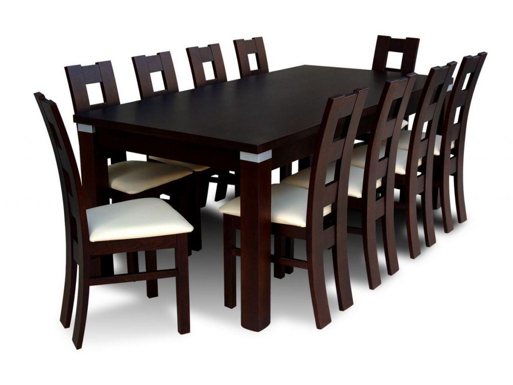 Zestaw do jadalni 44, stół S18-S, wymiar 100  x 200 x 290(2 X 45) , krzesło K42 ,10szt.