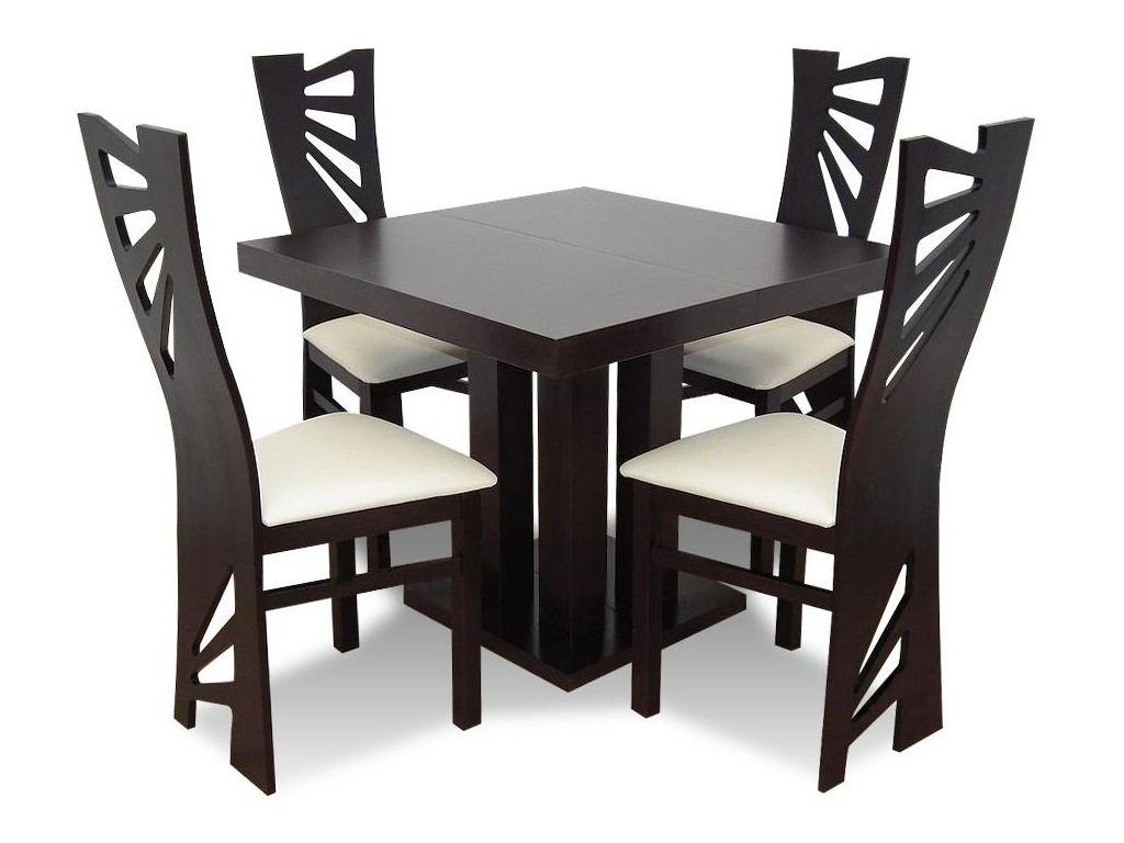 Zestaw do jadalni 47, stół S34, wymiar 90  x 90 x 240 (3 x 50), krzesło K56 ,4szt.