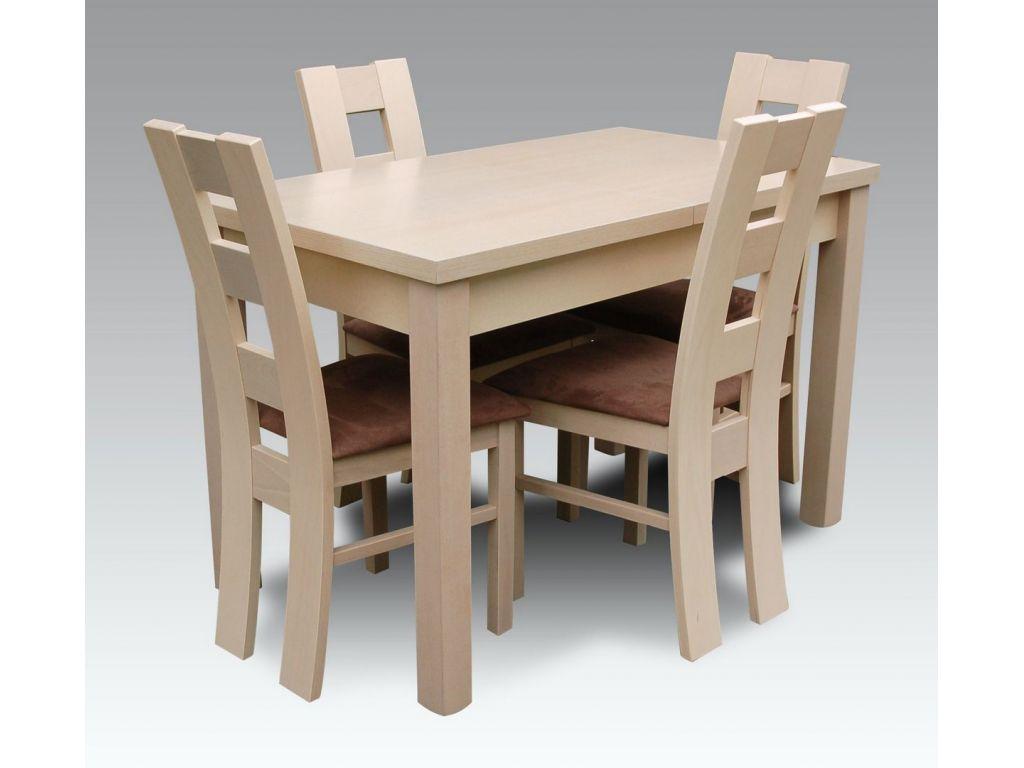 Zestaw do jadalni 49, stół S18, wymiar 70  x 120 x 160 , krzesło K42 ,4 szt.