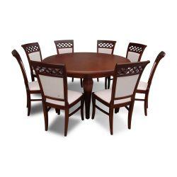 Zestaw do jadalni 55, stół S27 fi, wymiar 150  x 200 x , krzesło K52 ,8szt.