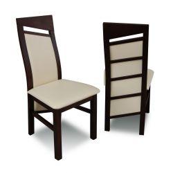 Zestaw do jadalni 58,  stół S18-S, wymiar 80  x 140 x 180 , krzesło K61 ,6 szt.