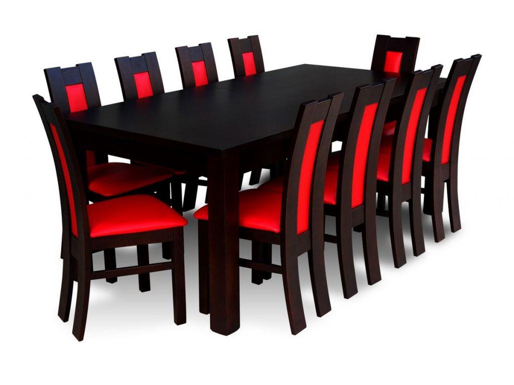 Zestaw do jadalni 62, stół S18 wymiar 100 x 200 X 290(2 x 45) krzesło K41 ,10 szt.
