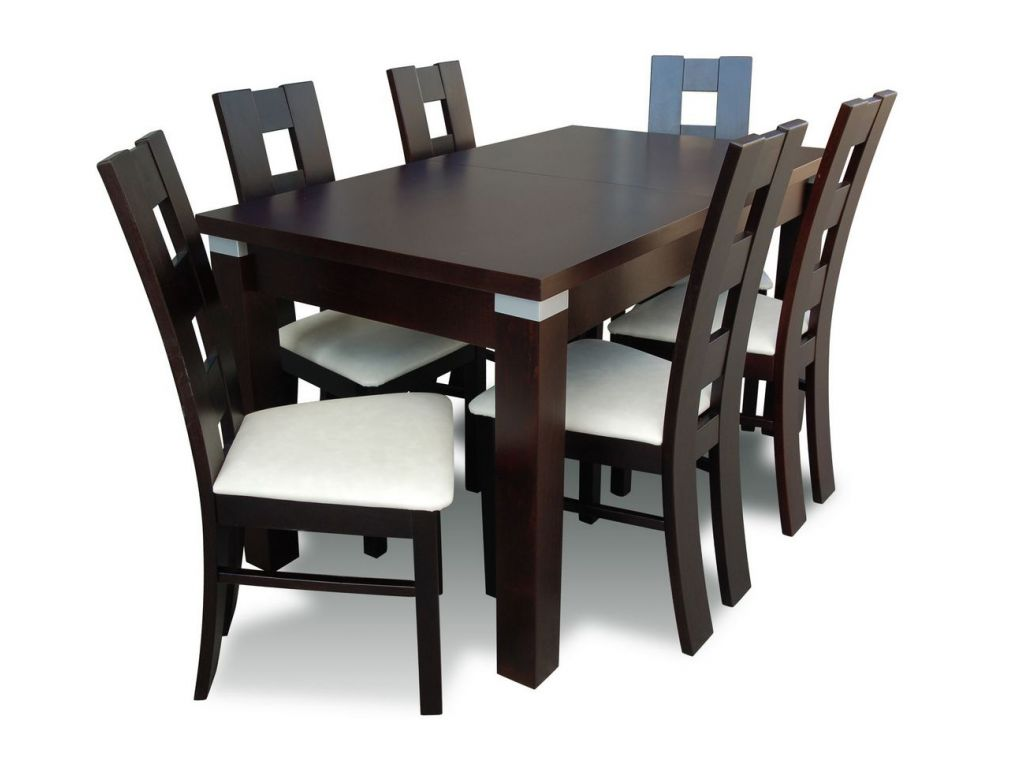 Zestaw do jadalni 63, stół S18-S wymiar 90 x 160 X 215 krzesło K42 ,6 szt.