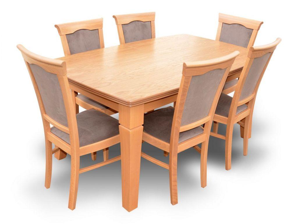 Zestaw do jadalni 65, stół S26 wymiar 100 x 160 X 400 (4 x 60) krzesło K13 ,6 szt.