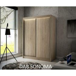 Szafa Brago z drzwiami przesuwnymi, 120 cm szerokość. Bez oświetlenia LED.