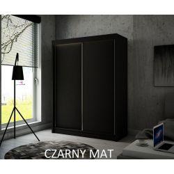 Szafa Brago z drzwiami przesuwnymi, 150 cm szerokość. Oświetlenie LED biały.