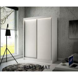 Szafa Brago z drzwiami przesuwnymi, 200 cm szerokości. Oświetlenie LED biały.