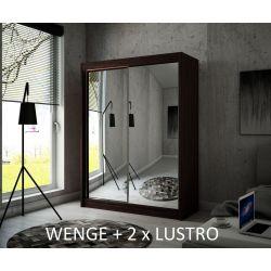 Szafa Hera z drzwiami przesuwnymi, 120 cm szerokość. Oświetlenie LED biały.