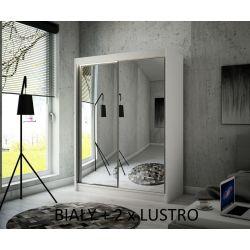 Szafa Hera z drzwiami przesuwnymi, 150 cm szerokość. Oświetlenie LED biały.