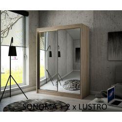 Szafa Hera z drzwiami przesuwnymi, 200 cm szerokość. Bez oświetlenia LED.