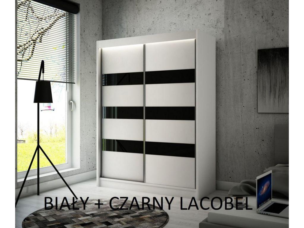 Szafa Tilo z drzwiami przesuwnymi, 120 cm szerokość. Bez oświetlenia LED.