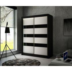 Szafa Tilo z drzwiami przesuwnymi, 150 cm szerokość. Bez oświetlenia LED.