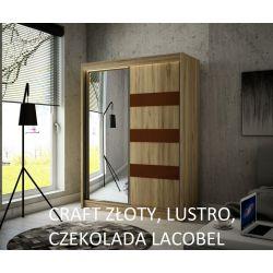 Szafa Like z drzwiami przesuwnymi, 120 cm szerokość. Oświetlenie LED.