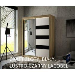 Szafa Like z drzwiami przesuwnymi, szerokość 200 cm. Oświetlenie LED.